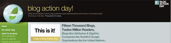 Blog Action Day - Every blogger will post about the environment in their own way and relating to their own topic.