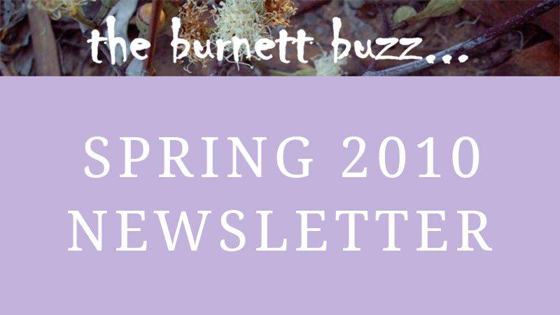the burnett buzz… Spring 2010