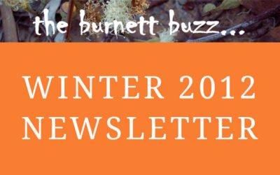 the burnett buzz… Winter 2012