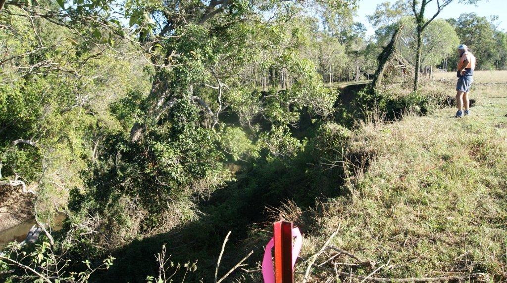 Unstable banks of the Baffle Creek