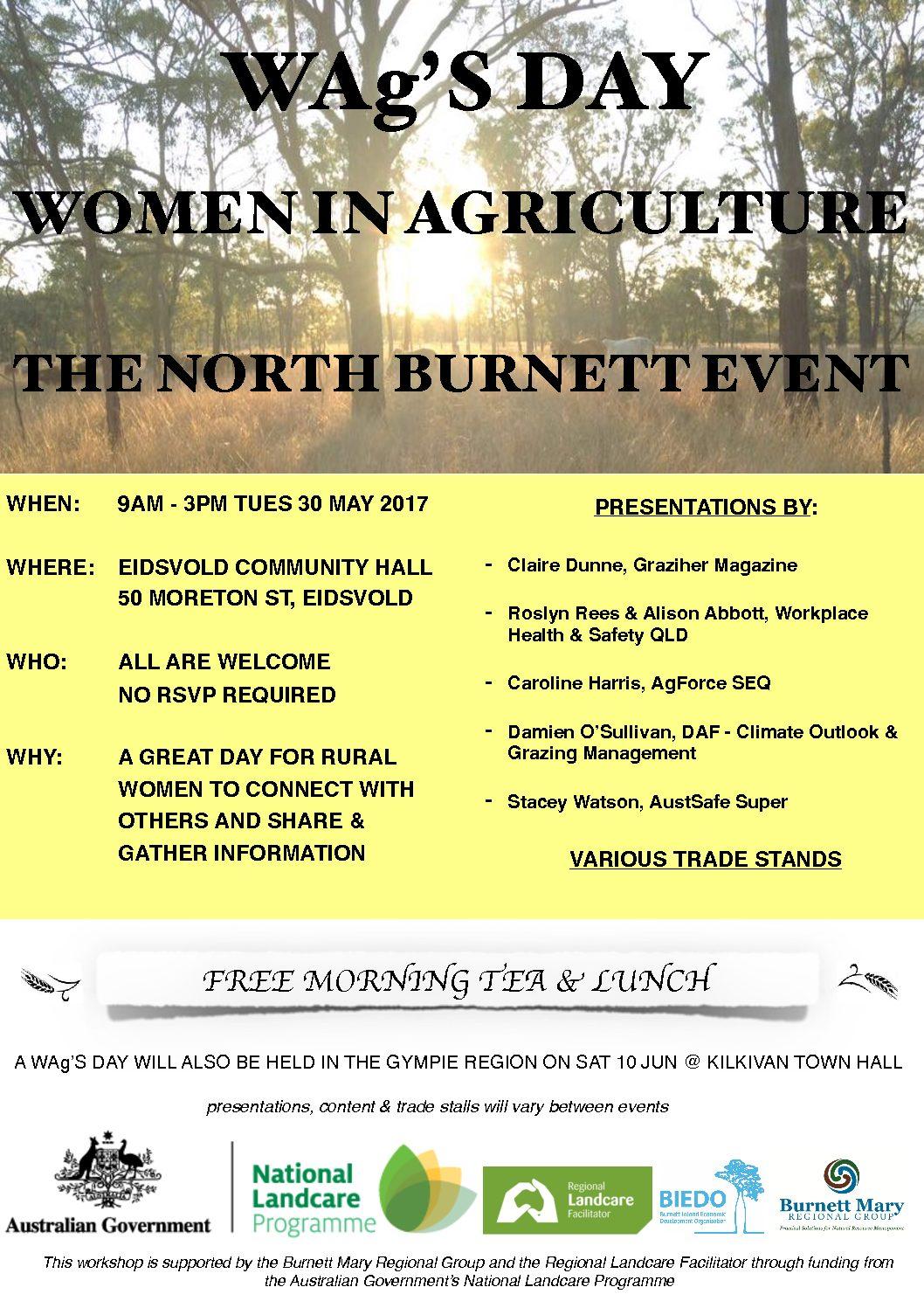 WAg'S Day (Women in Ag) Trade Stand – North Burnett event | Burnett