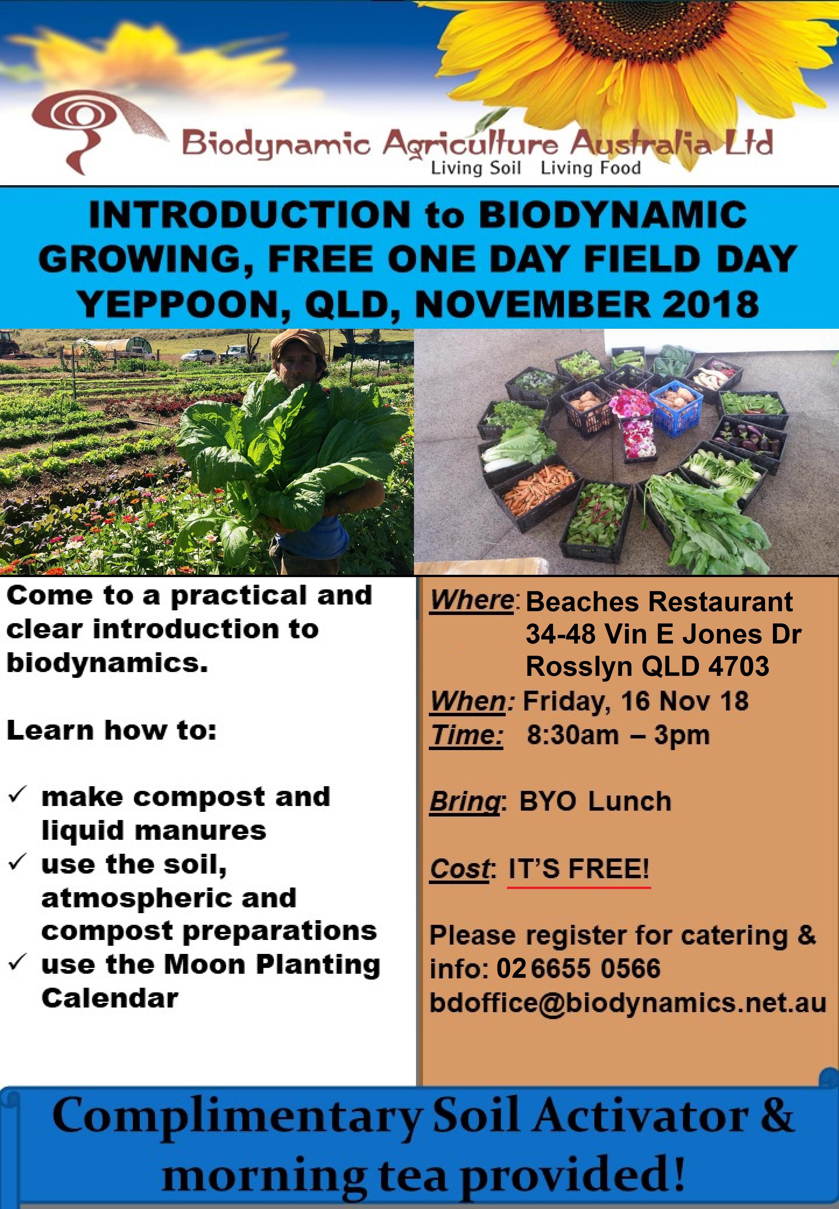 Introduction to Biodynamic Growing – Yeppoon | Burnett