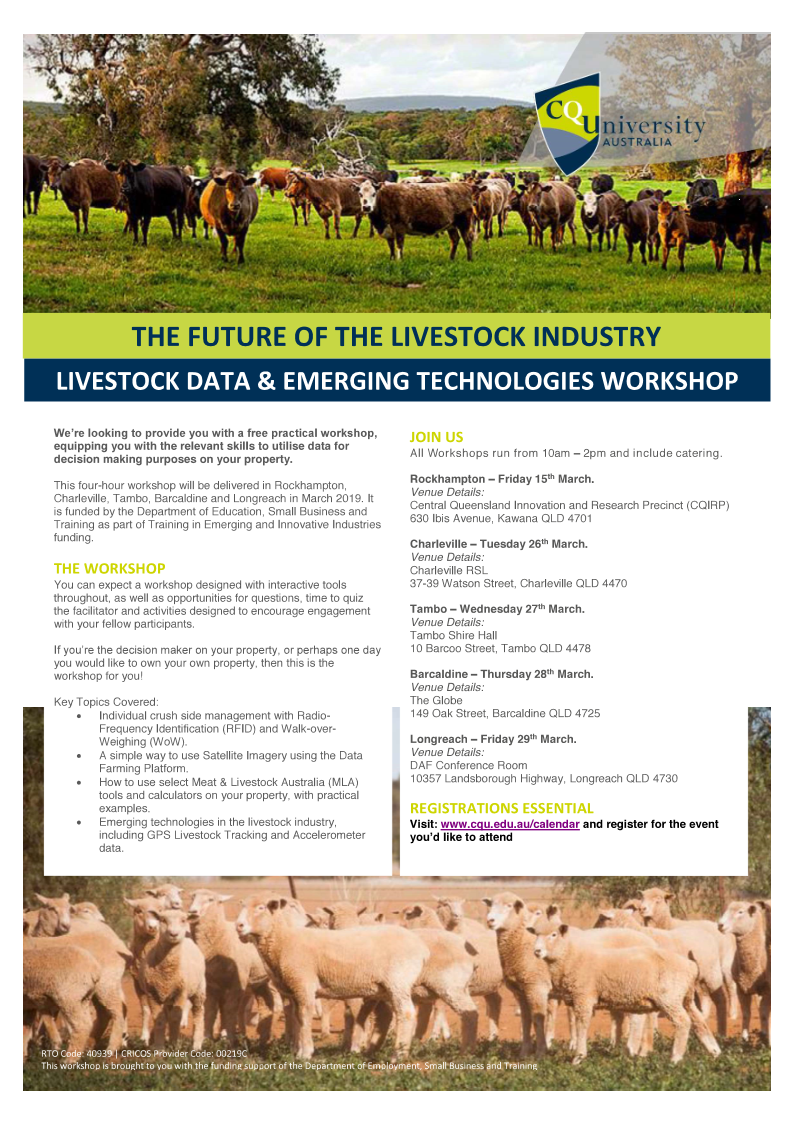 Livestock Data & Emerging Technology Workshop – Rockhampton